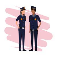 Officiers de police travail et ouvriers