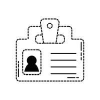 forme pointillée message de stratégie d'information de document d'entreprise vecteur