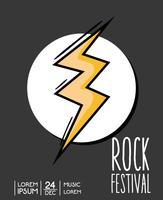 festival de rock événement concert de musique vecteur