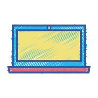écran couleur électronique technologie électronique vecteur