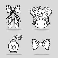 set ballet accesories decoration design