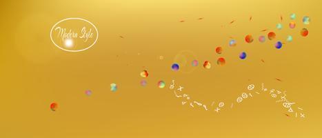 Abstrait minimal très large espace abstrait vecteur