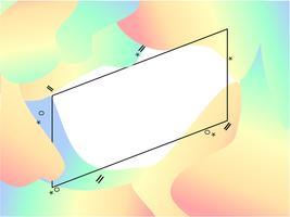 bannière de gradient abstraite modren