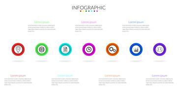 vecteur de cercle d'infographie moderne