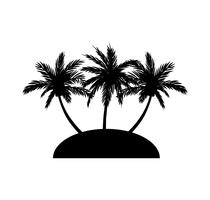 Silhouette noire des palmiers vecteur