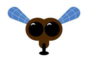 Vecteur de dessin animé de mouche
