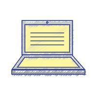 technologie électronique portable avec design d'écran vecteur