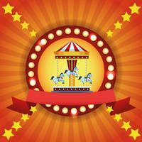 Emblème coloré du festival du cirque vecteur
