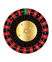 Roulette de casino vecteur