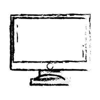 figure écran électronique technologie électronique vecteur