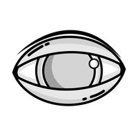 oeil humain en niveaux de gris à l'icône de vision optique