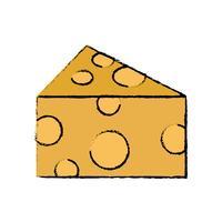 griffonnage délicieux et frais fromage nourriture nutrition
