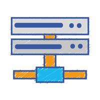 réseau de données réseau de liaison montante vecteur