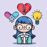 conception d'inspiration thérapie analyse psychologie vecteur