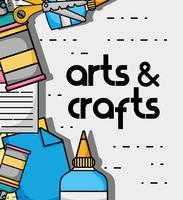 création d'objets d'art et d'artisanat vecteur