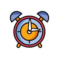 conception d'objet d'alarme d'horloge ronde vecteur