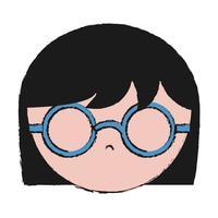 icône de fille avec des lunettes