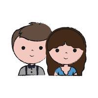 couple d'icône homme et femme
