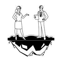 couple d'ingénieurs ouvriers caractères