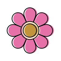 icône de belle fleur
