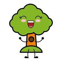 image d'icône d'arbre vecteur
