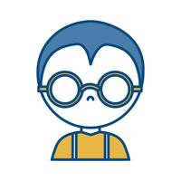 homme avec des lunettes icône vecteur