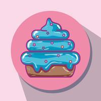 savoureux bonbons sucrés au dessert snack vecteur