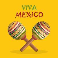 affiche instrument mexicain vecteur