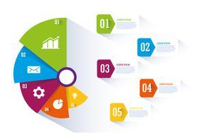 Conception graphique et infographique vecteur