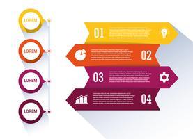 Flux de travail isolé et conception infographique vecteur