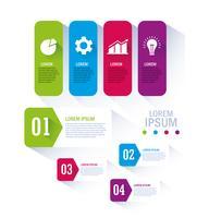 Flux de travail et conception infographique vecteur