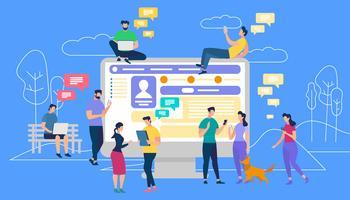 Communication via Internet et réseaux sociaux