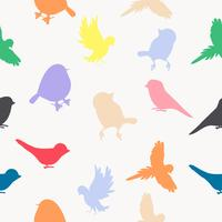 Motif de couleurs de silhouettes d'oiseaux vecteur