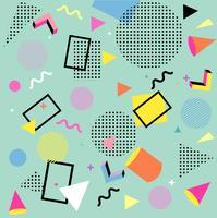 Abstrait à Memphis Design