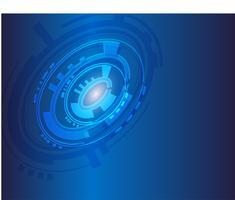 Fond de technologie bleue vecteur