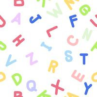 Modèle d'alphabet anglais doodle manuscrit