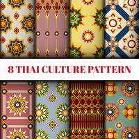 Ensemble de papier peint et de motifs de style thaï