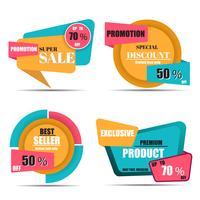 Collection d'étiquettes et de tags de vente vecteur