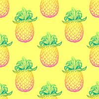 Seamless Pattern avec vecteur d'ananas