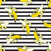 Modèle de vectorielle continue de bananes vecteur