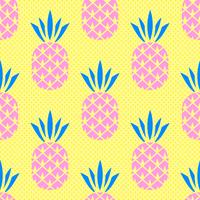 Modèle sans couture d'ananas d'été vecteur