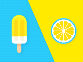 Citron vecteur duo pop couleur fond