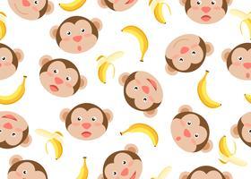 Motif Bananes Singes