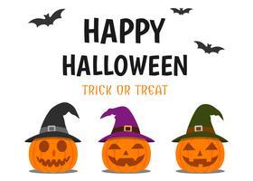 Carte de voeux d'Halloween
