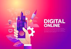 Achats en ligne numérique