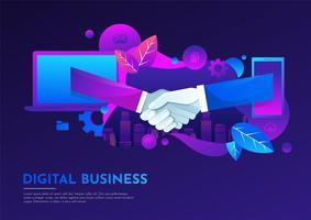 Affaires numériques vecteur