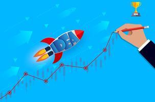 lancements de la navette spatiale vont à l'objectif vecteur