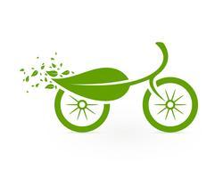 Icône cyclisme écologique vecteur