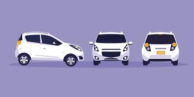atelier de voiture blanche vecteur