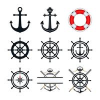 Jeu d'icônes nautiques